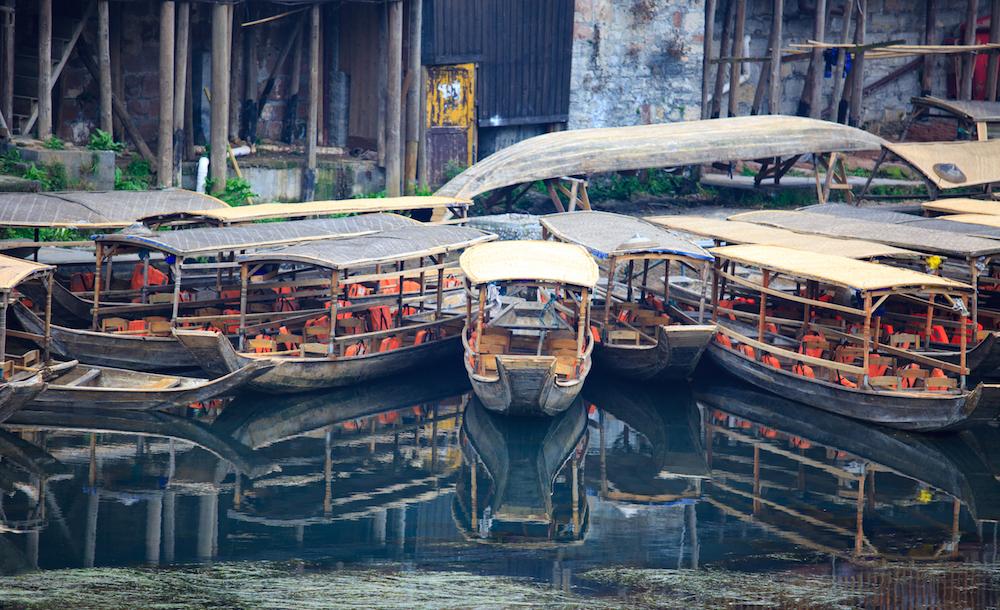 Boats, FengHuang, China Photography Holiday