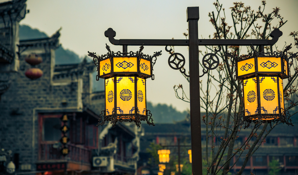 FengHuang Street Lamps Photography Holiday